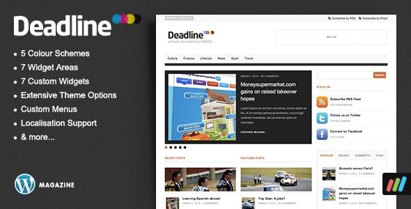 Καθαρό και ωραίο θέμα για περιοδικό ή blog επαγγελματία σε Wordpress