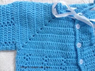 Desde o tempo da vovó...: Casaquinho de Bebê em Crochê