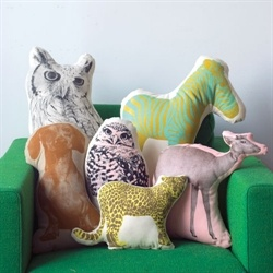 Areaware Fauna   Pop-art pude   Øko bomuld - Bearded Collie