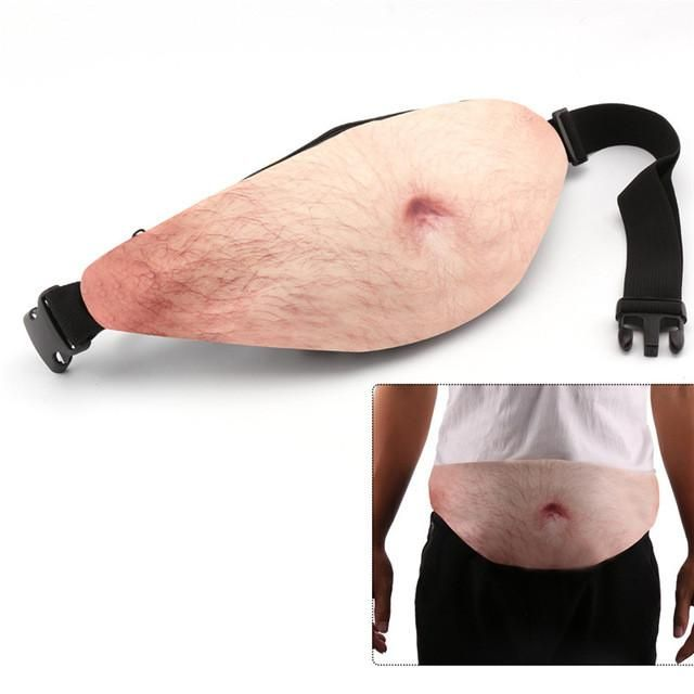 Funny Daddy Waist Bags Beer Belly Bag Flesh Colored Fat Fanny Packs Purse Gift