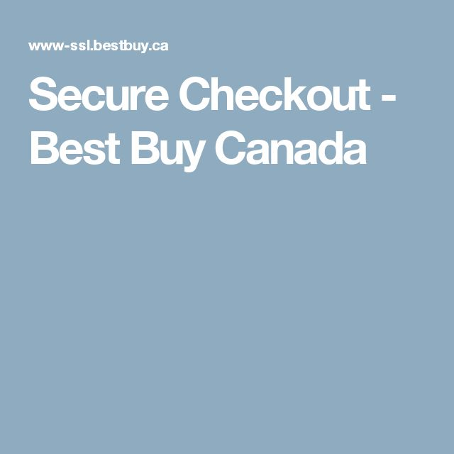 Secure Checkout - Best Buy Canada