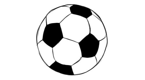 How To Draw A Soccer Ball Easy Step By Step Lessdraw Soccer Ball Soccer Soccer Drawing