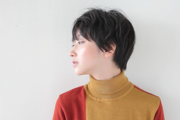 黒髪前髪長めショート   BRIDGE   ARTIS SALON   原宿 表参道 青山 美容室   アーティスサロン ブリッジ   HAIR MAKE UP