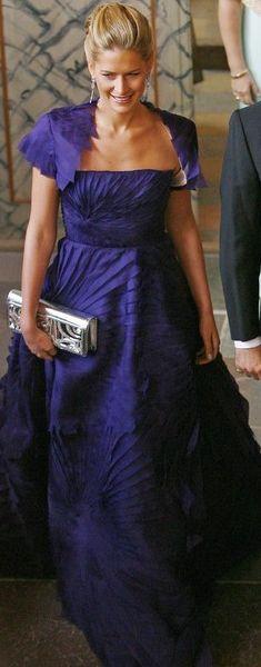 Venezuelan designer Angel Sanchez ensenble worn by Tatiana Princess of Greece & Denmark