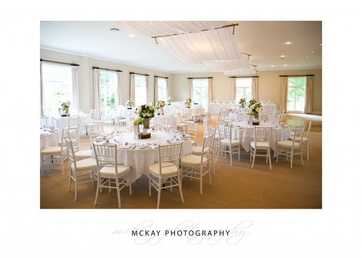 The Ballieu Ballroom at Milton Park - a lovely place for your wedding reception  #wedding #miltonpark