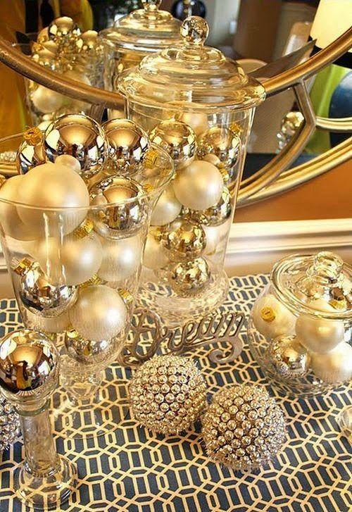 Winter Ornament Jars