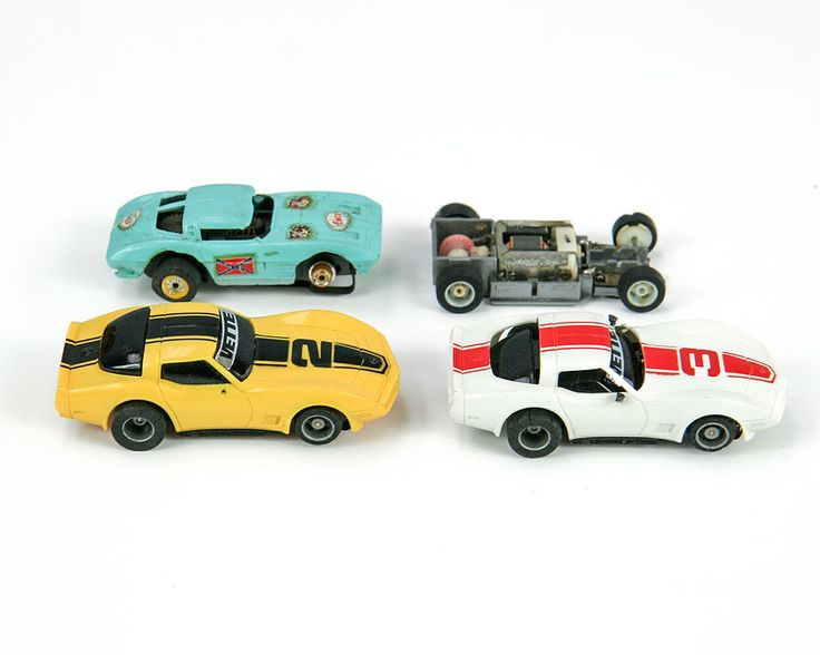 TYCO Slot Cars, Corvettes, Lot of 4 #TYCO