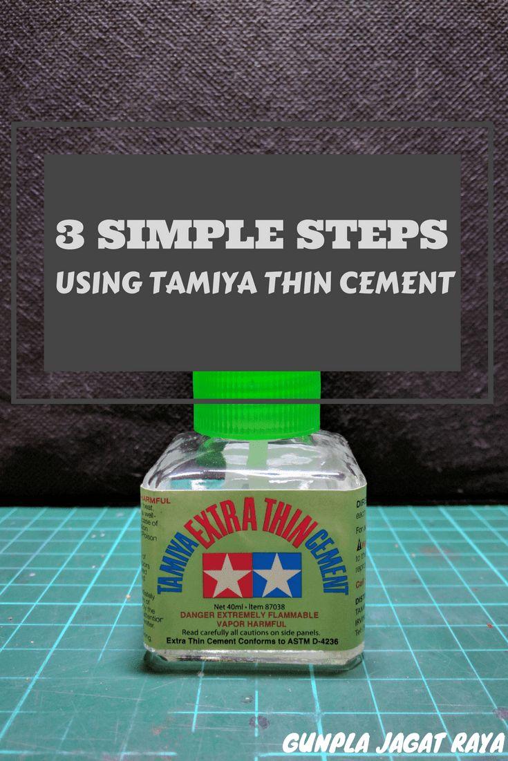 Gunpla tutorial. Gunpla techniques on  using tamiya thin cement.
