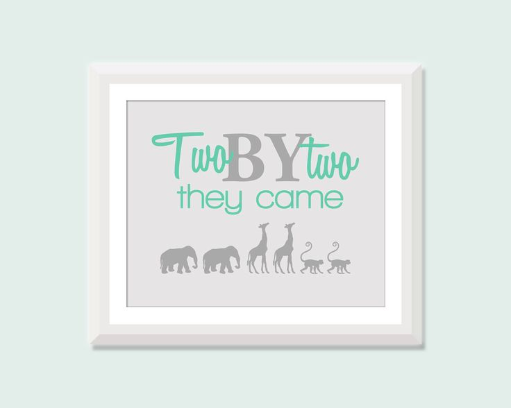 Twin Nursery Art, Two by Two Print, Twin Nursery Decor, Boy Girl Twin Nursery Decor, Twin Boys Nursery Decor Art, Twin Girls Nursery Decor by SweetPapelDesigns on Etsy https://www.etsy.com/listing/190851144/twin-nursery-art-two-by-two-print-twin