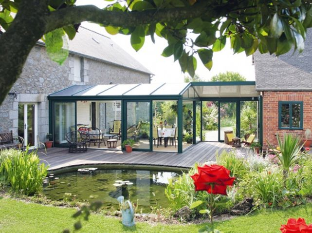 idee Glass veranda : ... veranda/styles-de-verandas/veranda-en-aluminium-521_A #maison #travaux