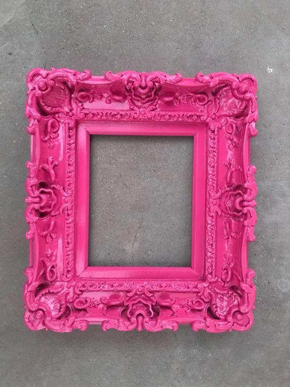 Picture Frame Shabby Chic Photo Frames Art Frames Wall frame Wedding Frames Baroque Frame 8x10 Pink Frame Cottage Chic Frame