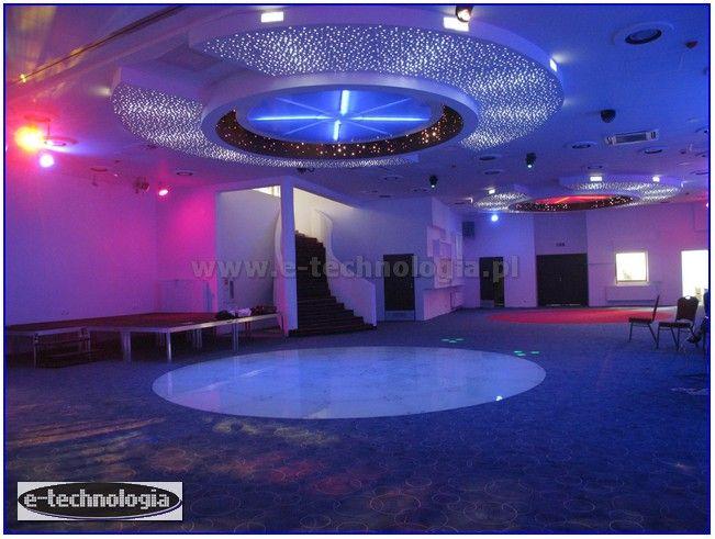oświetlenie sali konferencyjnej gwieździste niebo