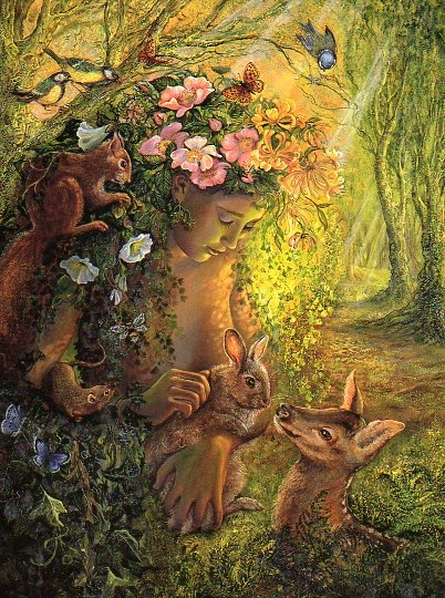 The Goddess Eostre.... we owe her thanks for the Easter Bunny-sb