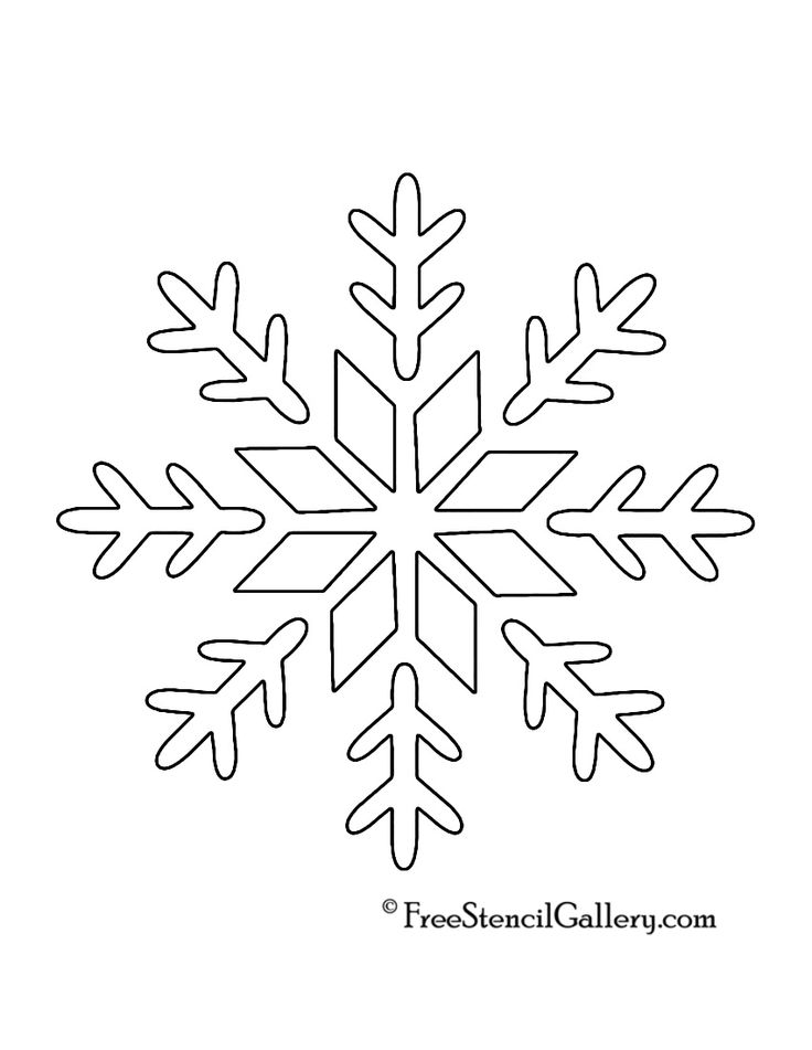 Snow Flake Design For Spray Painting Print Out