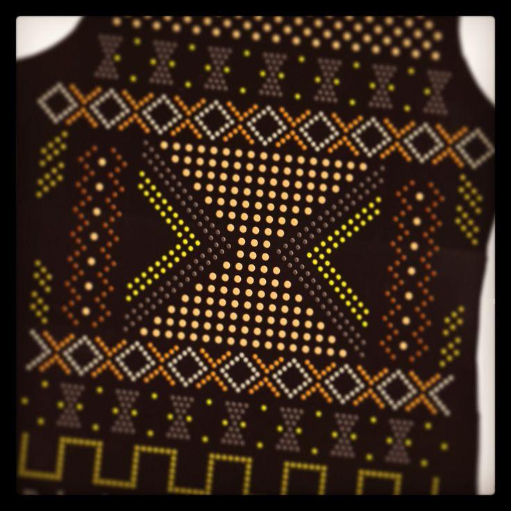 Aztecan hotfix design by fashionstrass.