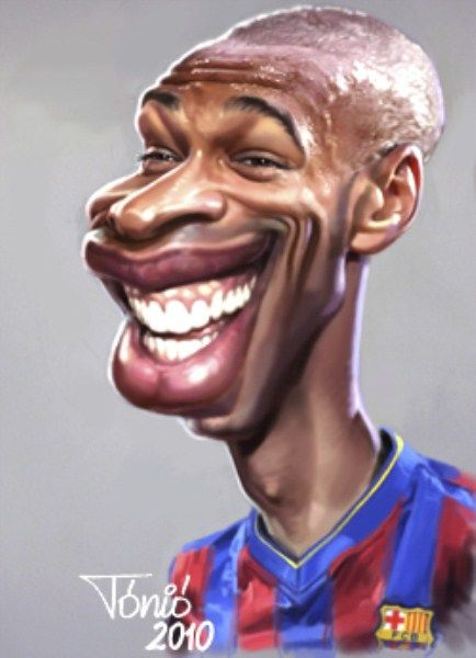 Thierry Henry caricature