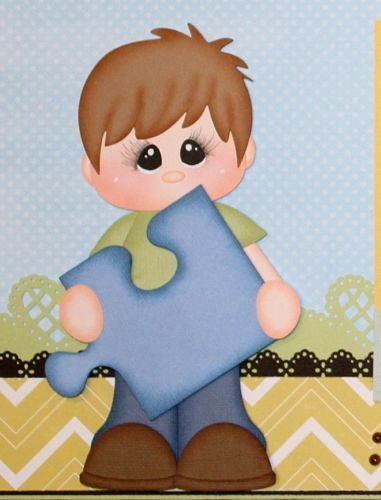 ELITE4U PMBY JULIE Boy Child Premade Scrapbook Pages for Album paper piecing