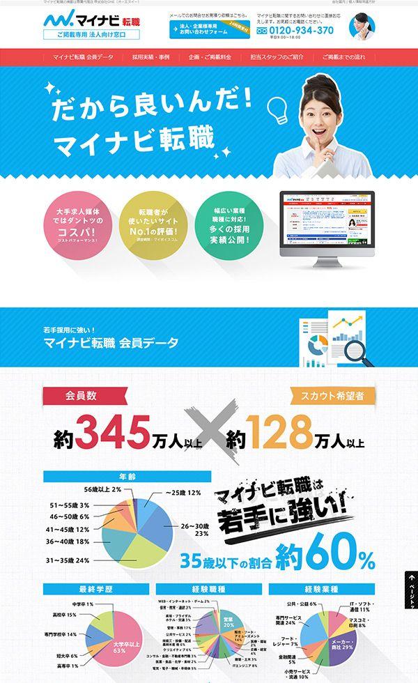 マイナビ転職で求人募集するなら求人広告代理店ONE | Web Design Clip [L] 【ランディングページWebデザインクリップ】