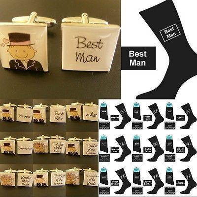 Fun wedding cufflinks & #socks set groom best man #usher novelty gift fun/#socks,  View more on the LINK: http://www.zeppy.io/product/gb/2/220971151370/