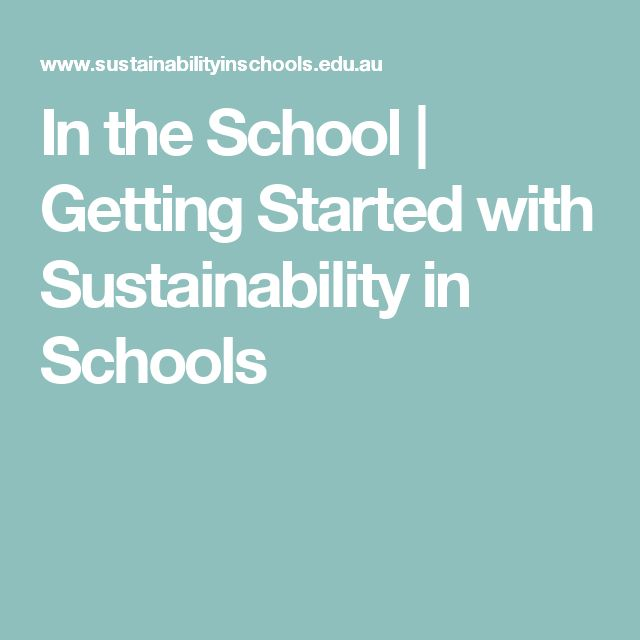 In the School   Getting Started with Sustainability in Schools