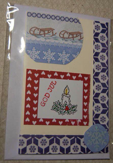 Ljus julkort 30 kronor plus porto. #christmas #card #scrapcard #scrapbooking