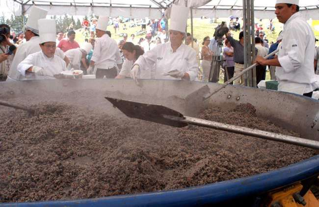 """Cliquez ici pour vivre la fête du """"Gallo Pinto"""" avec des centaines de Costariciens, une recette traditionnel du Costa Rica avec du Riz et des Haricots rouges..."""