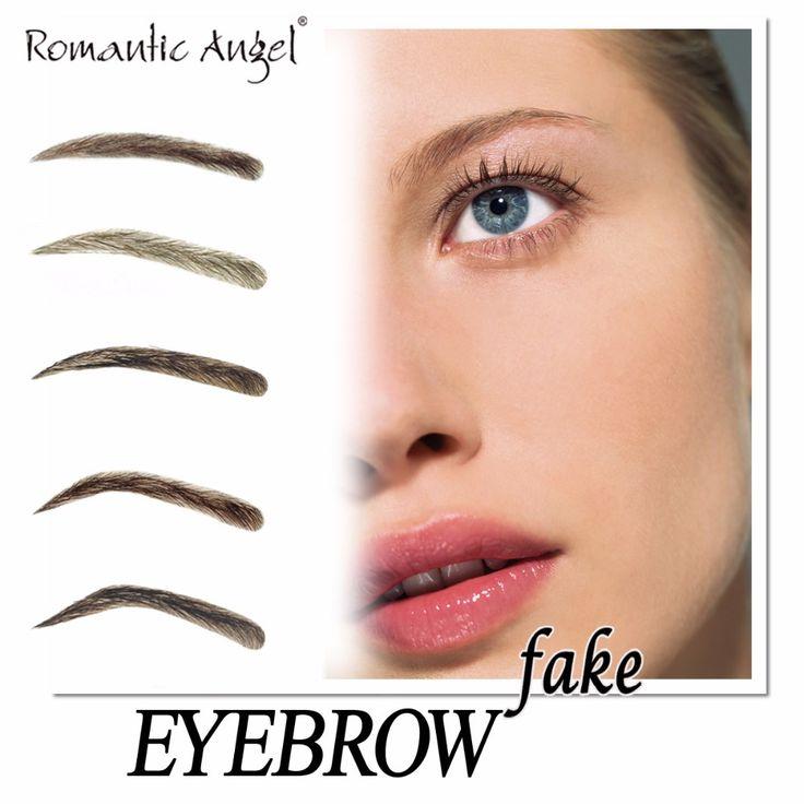 100% cabelo humano cílios sobrancelha mão Aritfical mulher falso sobrancelha com PU injetado 1 par/lote anjo romântico alishoppbrasil
