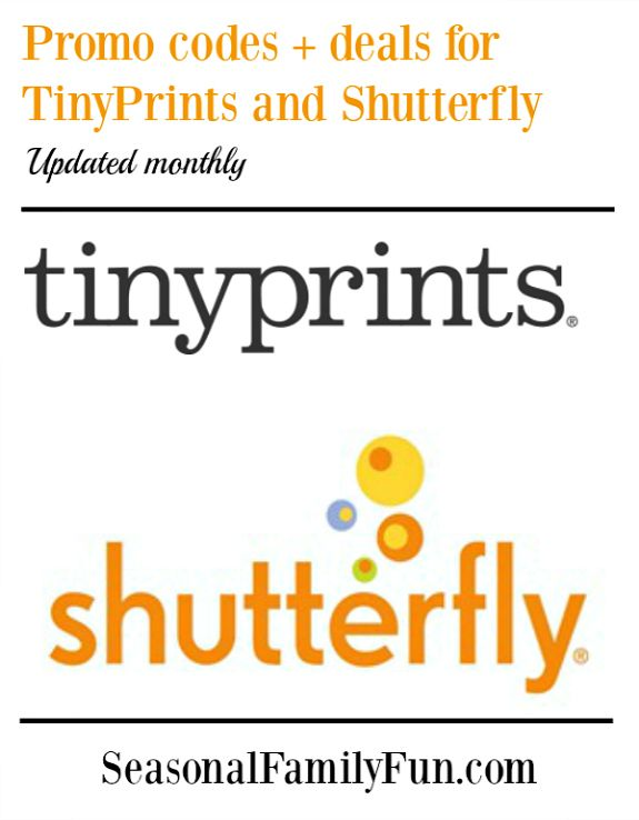 Promo codes for Shutterfly and TinyPrints #couponcodes #codes #promocodes #deals #discounts #savemoney
