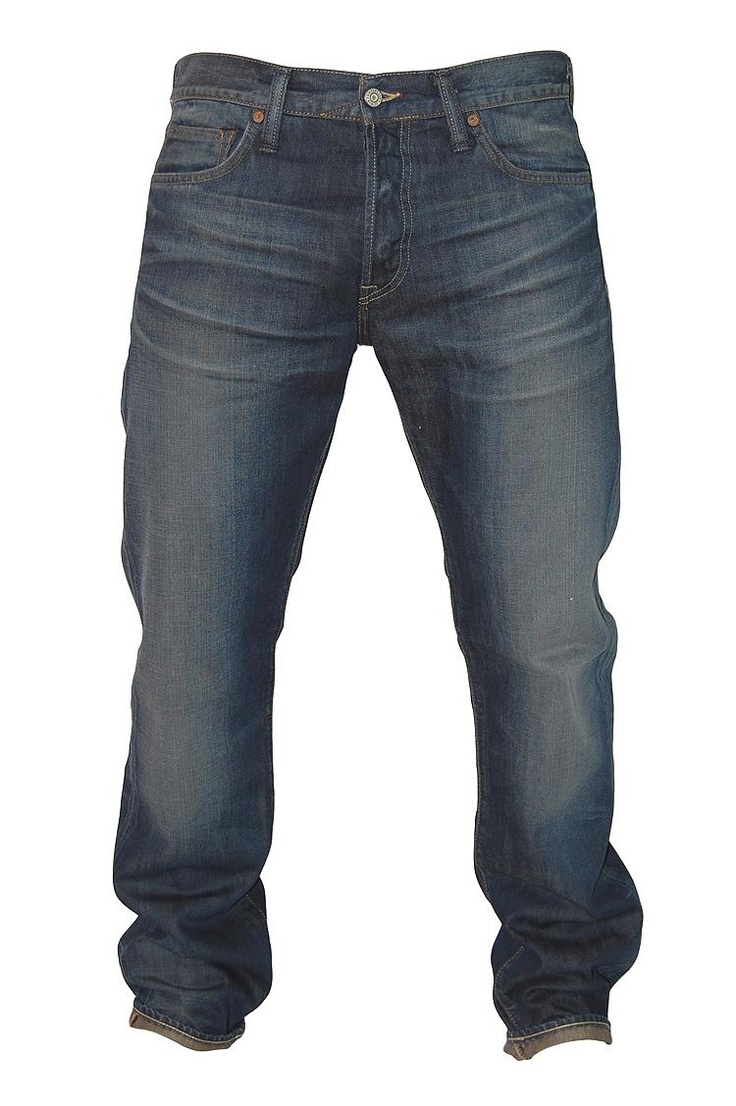 edwin jeans - biker wash1 (button fly, relaxed tapered fit)
