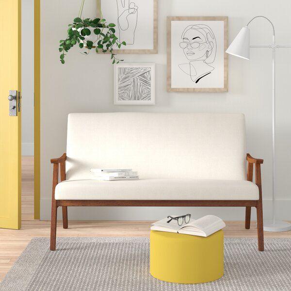Rehoboth 52 Wide Square Arm Loveseat Love Seat Furniture Scandinavian Furniture Design