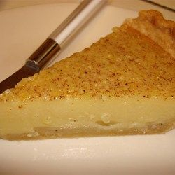Egg Custard Pie III Allrecipes.com - made this for father's day...dad's favorite pie. Great taste. Easy.