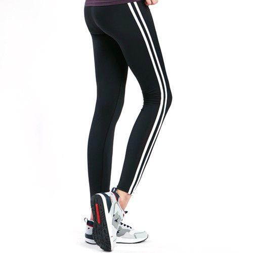 Womens Sport Fitness Training Running Stripe Casual Leggings Pants Trousers #Unbranded #AthleticLeggings