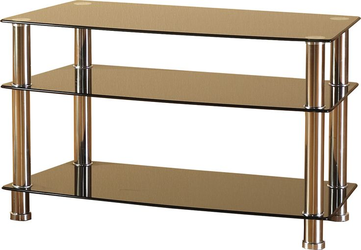 sales@spt-furniture.com Trixie TV Unit Black Glass/Silver Assembled Sizes(MM) 940 x 450 x 560 SS THICKNESS 8/6MM SHELF SIZE W940 D450 H175 BOT SHELF SIZE W940 D450 H275 MAXIMUM WEIGHT ON TOP 40KGS MAXIMUM WEIGHT ON SHELVES 10KG