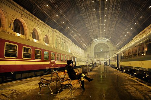 Keleti Train Station in Budapest by IanBrewer, via Flickr