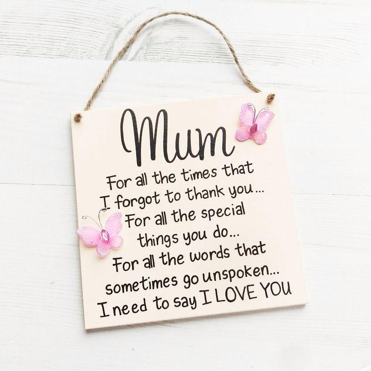 Gift for mum, Mothers Day Gift, Mum gift, Mum Plaque, Mum birthday gift, Gift for Mom, wedding gift, wedding gift for mum by TaylorsCreationsGift on Etsy https://www.etsy.com/ca/listing/496162965/gift-for-mum-mothers-day-gift-mum-gift