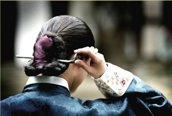 Hair pin and embroidered cuff--from Hanbok   Korea
