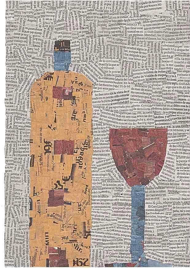 M s de 25 ideas incre bles sobre collage de peri dicos en for Papel pintado periodico