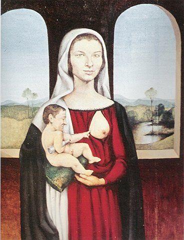 Jerzy Duda Gracz, Włoski renesans stał się bazą żartobliwego, nawiązującego do przedstawień Madonny z Dzieciątkiem portretu państwa Kubarków
