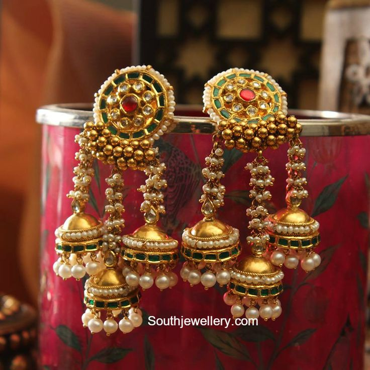Antique Gold Jhumkas photoDeepika dks Pinboard trails ~*~