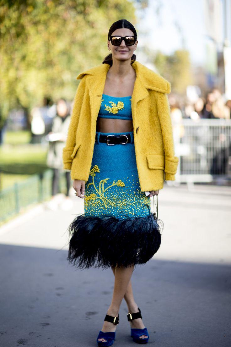 La combinación que Miuccia Prada propuso para otoño y que ha enloquecido a las fashion insiders y street stylers.
