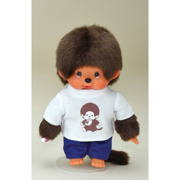 Monchhichi White Shirt with Blue Pants Boy. Looking good in the basics.