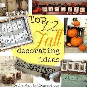 Top 12 Fall Decorating Ideas! - #fall #decorate #autumn