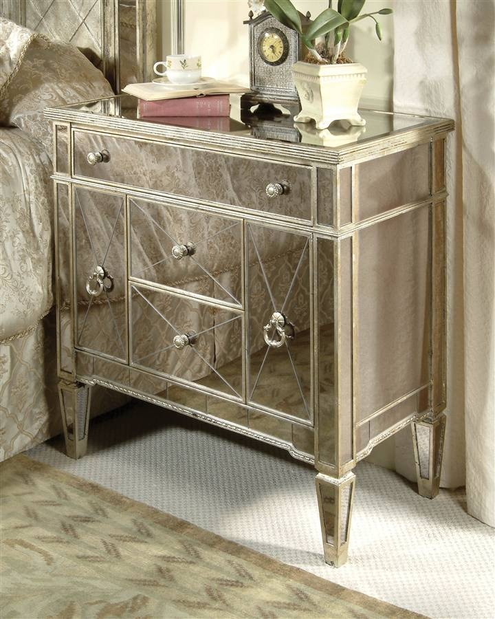 Bassett Mirror   Mirrored Chairside Chest w 3 Drawers   2 Door Cabinet    Borghese. 40 best Mirror furniture   images on Pinterest   Island  DIY and