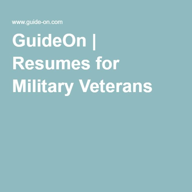 33 best Military Retirement images on Pinterest - military veteran resume examples