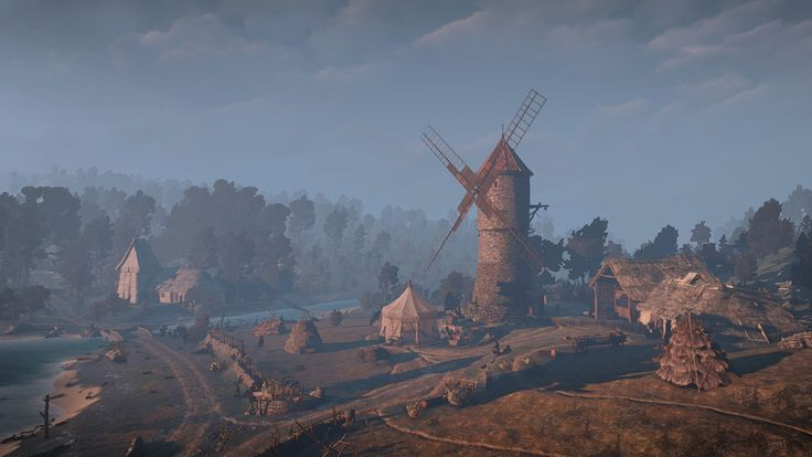 #witcher3 #cdprojektred #landscape #art #beautiful #moment #love #pic #ambience #windmill