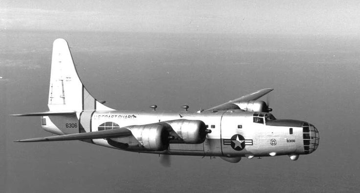 [Photo] US Coast Guard PB4Y-2 Privateer, a B-24 variant, in flight, post 14 Jan 1947   World War II Database