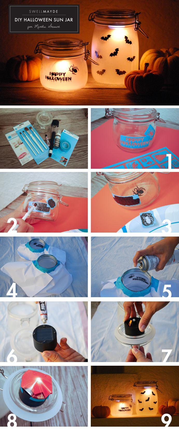 SwellMayde: DIY | Halloween Sun Jar for Martha Stewart