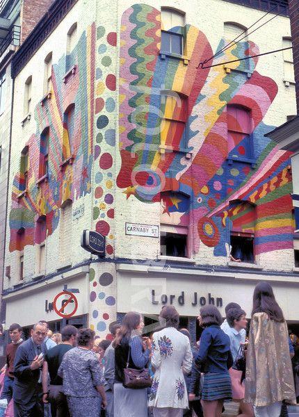 Carnaby Street, London - 1960s.