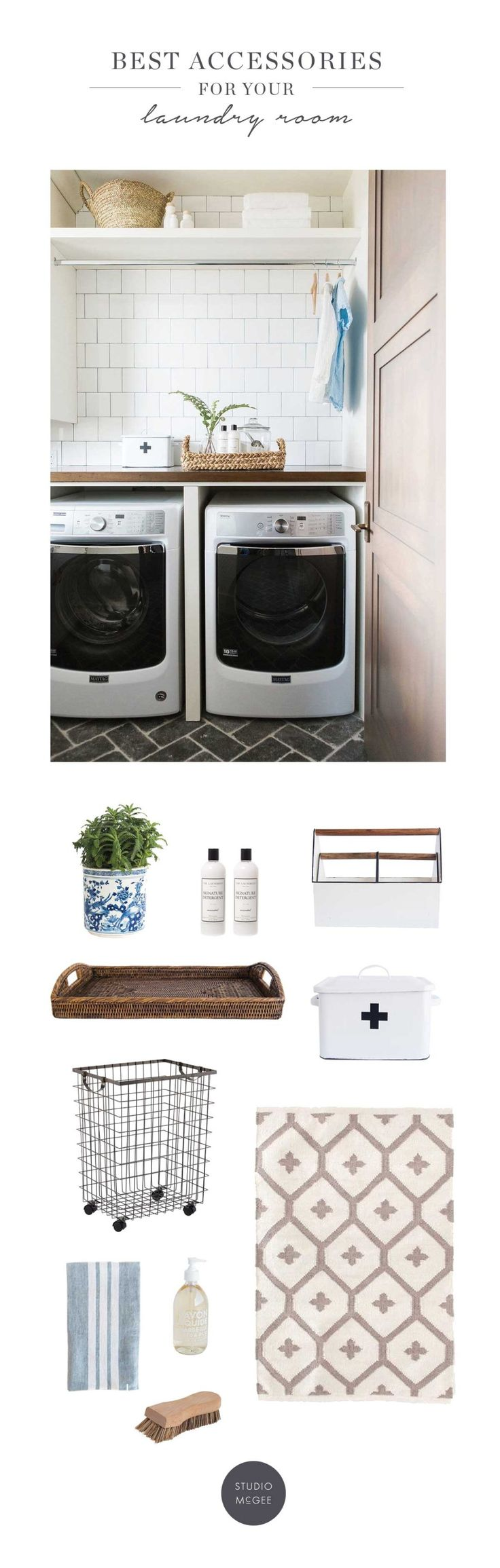 Best accessories for your laundry room | Studio McGee Blog