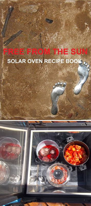 Learn how to make your favourite family recipes using only the power of the sun! 170 recipes over seven categories: Egg, Soup, Bread/biscuits/cakes, Poultry, Meat, Vegetables, and desserts. 'Free from the Sun' a solar oven recipe book